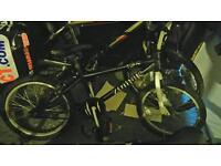 Zombie bmx black 20 inch wheels