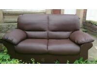 Two seater sofa chocolate brown