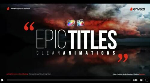 Final Cut and Apple Motion ready project Epic Titles + educational video