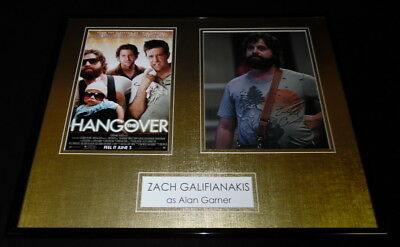 Zach Galifianakis Signed Framed 16X20 Photo Display Aw The Hangover