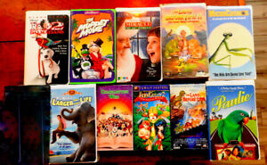 Children's VHS movies. $15 for 20 movies