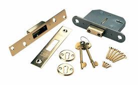 High spec insurance rated 5 lever security door deadlock,brandnew,costs £45,only £15