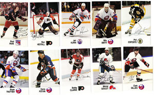 16 ESSO ALL STAR CARDS 1988/1989 BOBBY HULL POTVIN TROTTIER ETC