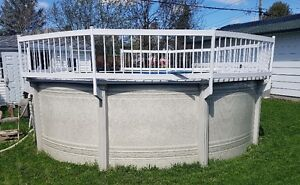 Pool 15 feet with accesories ,solar heat panels,and  fence