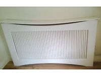 Large white radiator cover