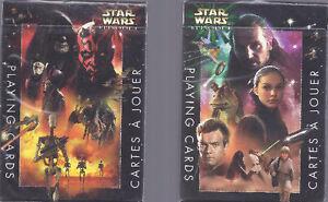 Star Wars Episode Un (lot de 2 Jeux de Cartes Neufs)