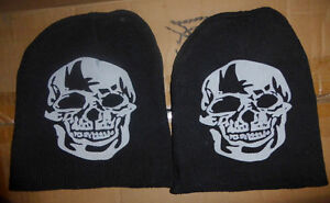 2 NEW hats with skulls $ 2 ea or both for $ 3 'one size'