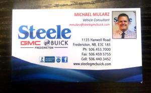 Vehicle Consultant @ Steele GMC Buick Fredericton