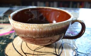 1960s McCoy Brown Drip Bowl