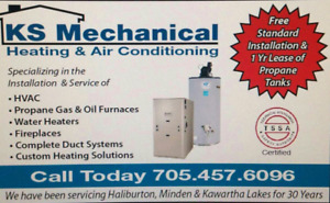 New gas propane furnaces sale will deliver