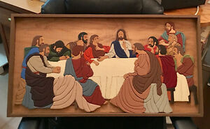 Handmade The Lord's Last Supper Painting Framed
