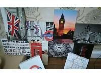 Cool London canvas and underground storage boxes