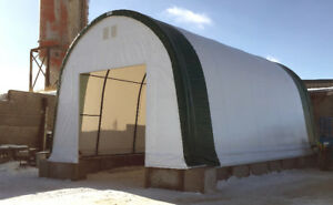 24' G&B Portable Fabric Buildings On Special! 16-Year Warranty!