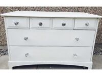 vintage stag minstrel chest of drawers shabby chic