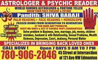 ARE U DISAPPOINTED  WITH OTHER PSYCHIC