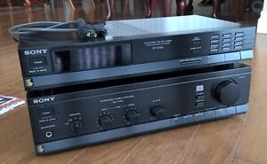 Vintage Sony hi-fi amplifier and tuner for sale