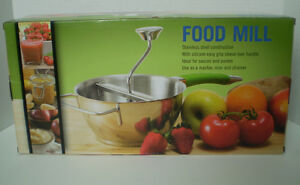 STAINLESS STEEL FOOD MILL, NEW IN BOX!