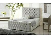 🩸Sale End Soon🩸BRAND NEW CHESTERFIELD BED IN DOUBLE/KING SIZE FRAME WITH OPTIONAL MATTRESS-