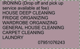 DBS checked cleaner