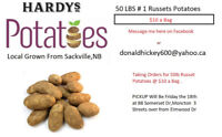 Taking orders on 50lbs of Russet Potatoes