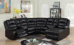 Brand new 7 piece leatherair recliner sectional $1998+FREE TABLE