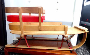 EXCELLENT VINTAGE WOOD SLED - FOR USE OR DECOR