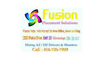 #Fusion Placement Need AZ Drivers with 1 year experience require
