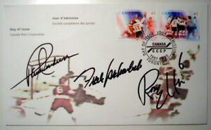 Autographed Canada Post 1st day issue of 1972 Hockey Summit