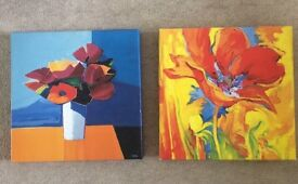 2 IKEA canvases. Free
