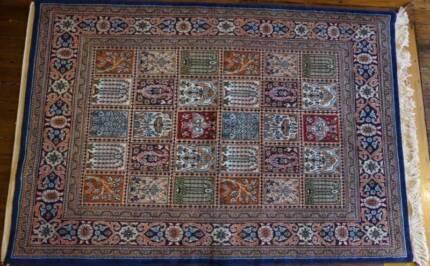 Handmade Persian Rug Qum Hand Knotted Carpet-230x140cm Fine Rug