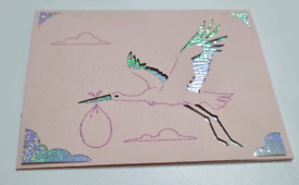"Handmade card ""baby theme"""