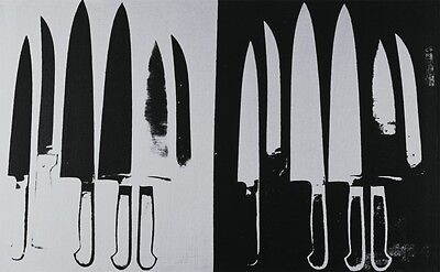 Knives, c. 1981-82 (silver and black) by Andy Warhol Art Print Poster 22x30