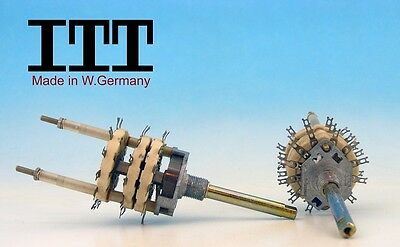 Itt W. Germany 80s Ceramic Rotary Switch 3 Pole 11 Positions 3p11t Non Shorting