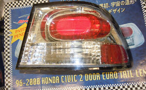 1996 - 00 Honda Civic 2 Door Euro Tail Lights / Lamps