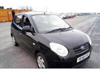 Kia 1.0 (60bhp) Petrol Manual Black 5 Door Hatchback £30 Road Tax