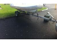 Boat trailer 10-14ft rib tender punt