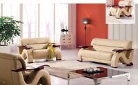 Liquidation 3pcs black or beige sofa set