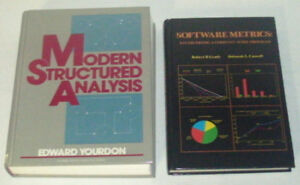 Modern Structured Analysis, & Software Metrics (2 books)