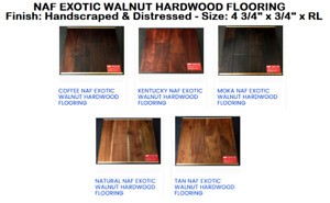 SALE! NAF EXOTIC WALNUT HANDSCRAPED HARDWOOD FLOORING