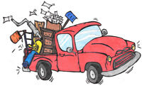 Junk/garbage removal - short notice avail. 7 days a wk.