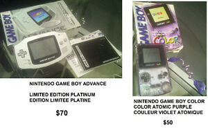 "NINTENDO ""GAME BOY ADVANCE"" LIMITED EDITION PLATINUM ENSEMBLE"