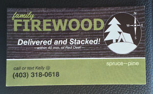 FIREWOOD delivered & stacked!