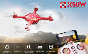 NEW Syma X5UW with WiFi FPV AltitudeHold 2MPCamera +FREE BATTERY