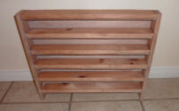 2 small wooden table top shelves for display etc... $ 5/EACH