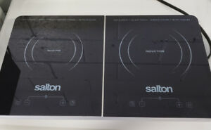 10% OFF SAT & SUN IN COOKTOP SALTON MODEL ID1487 BLACK WITH