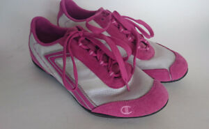 Champion Pink Suede Leather Running Shoes