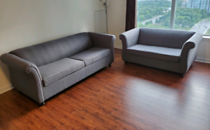 2 piece living room set - sofa bed & loveseat