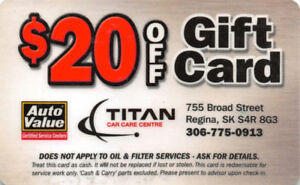 $20 Gift Card Titan Automotive for $15