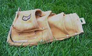 New Leather 4 Pocket TOOL / Nail POUCH for Tool Belt