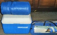 COLEMAN STOVE,HEATER,COOLER, AND SLEEPING BAG